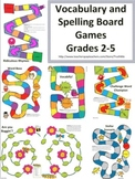 Vocabulary and Spelling Board Games for Engaged Spelling Centers