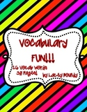 Vocabulary fun! Capitalization!  30 pages!