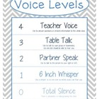 Voice Levels Chart - Gray and Blue Chevron