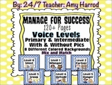 Voice Levels & Editable Posters for Classroom Management