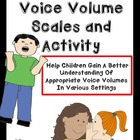 FREE! Voice Volume Scales and Activity