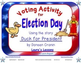 Voting Activity for Election Day Lesson using story Duck f