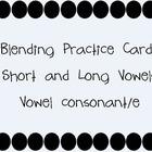 Vowel Consonant/e Practice Cards