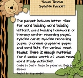 Vowel team syllable packet 1