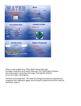 WATER EARTHS NATURAL BEVERAGE POWERPOINT