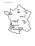 French weather - map -  1 PAGE FRANCE - NO WORDS