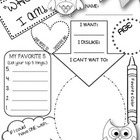 """WHOO"" I AM!  All About Me Owl-Themed Printable"