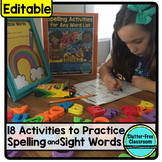 WORD STUDY / SPELLING ACTIVITIES TO USE WITH ANY WORDS
