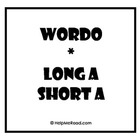 WORDO Long A Short A