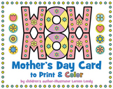 WOW MOM Mothers Day Card with Line Symmetry
