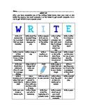 WRITE-O Literacy BINGO Game Homework