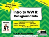 Introduction to World War II: Background Information (WWII)
