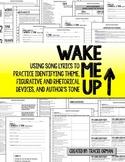 Wake Me Up By Avicii & Aloe Blacc Figurative Language Activities