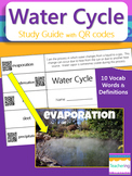 Water Cycle Study Guide with QR Codes {Links to Photos}