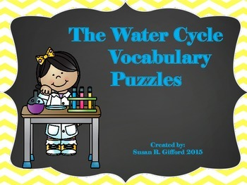Water Cycle Vocabulary Puzzles - 4th Grade GPS