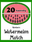 Watermelon Match - Numbers 0 to 20 - Counting Seeds Pre-K