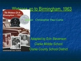 Watsons Go to Birmingham, 1963 - adapted book for learners