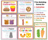 """We Go Together"" Matching Games Bundle:  CVC, Rhyming, Sou"