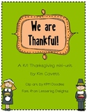 We are Thankful - Thanksgiving mini-unit