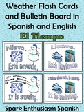 Weather (El Tiempo) Flash Cards/Bulletin Board in Spanish