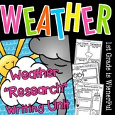"""Weather """"Research"""" Writing Unit~ for K-2nd Grades :o)"""