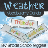 Free Downloads - Weather Vocabulary Cards