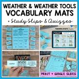 Weather Vocabulary Match up Mat--definition study strategy