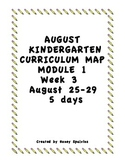 Week 3 Kindergarten Curriculum Aligned to Common Core Standards