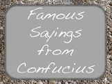 Weekly Confucius Quotes Sayings Social Studies Language Ar