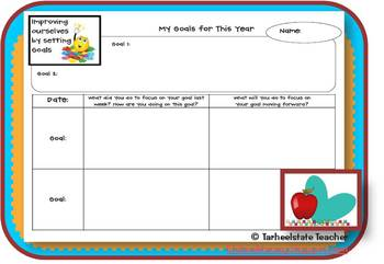 Weekly Goal Setting Reflection FREEBIE