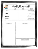 Weekly Homework Packet