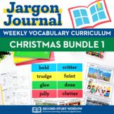 Weekly Interactive Vocabulary Notebook Unit Christmas Bundle