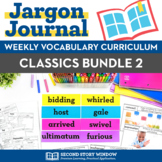 Weekly Interactive Vocabulary Notebook Unit Classics Bundle 2