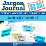 Weekly Interactive Vocabulary Notebook Unit January Bundle