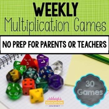 Weekly Multiplication Games