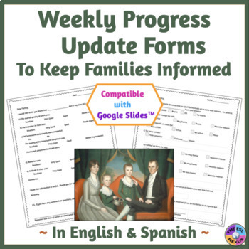 Weekly Progress Report: Spanish and English Forms to Track Student Progress