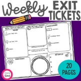 Weekly Reflections Exit Slip Think Book