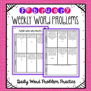 Weekly Word Problems February