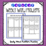 Weekly Word Problems January