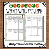 Weekly Word Problems November