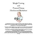 Weight Training Basics Handout and Worksheet