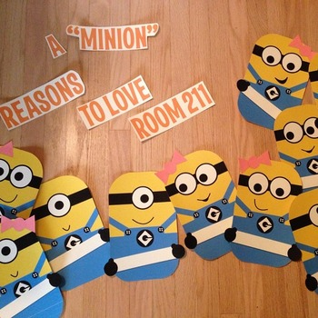 Welcome Back Bulletin Board - Minions