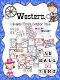 Western Library/Media Center Pack {NOW with EDITABLE signs}