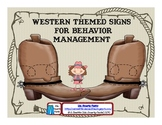 Western Themed Behavior Management Signs  with Quotes