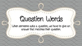 Wh- Question Words Visual