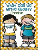 What Can We Write About...Freebie!