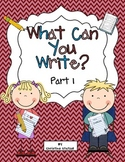 What Can You Write? Part 1 {Sentence Writing Practice}