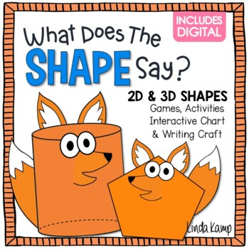 What Does the SHAPE Say? 2D & 3D Shapes Activities, Printables, Chart & Craft