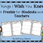 What I Wish You Knew **Freebie**