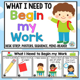 What I need to begin work desk strips/desk mate - 1 page